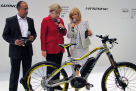Angela Merkel Steals the Show at Eurobike Opening