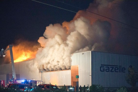 Fire at Royal Dutch Gazelle