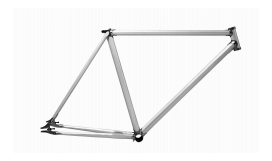 Ideation Industrial Retro Lugged Fix Gear Frame and Fork