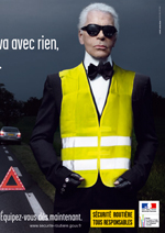 Karl Lagerfeld Promotes Bicycle Safety