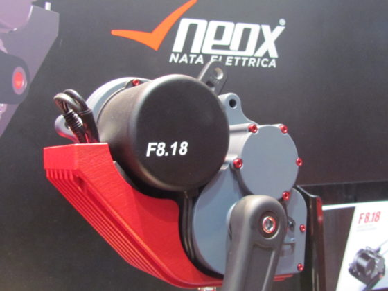 F8.18 from BrakeForceOne & Neox; mid-motor coupled with 8-speed gearbox.